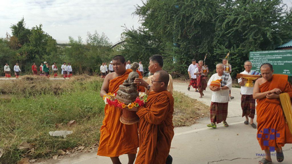 อาสาไทยยืนยัน Thai Reference สุพรรณบุรี อบต.พลับพลาไชย ร่วมผู้นำชุมชนชาวบ้านฟื้นฟูประเพณีงานบุญผะเหวด