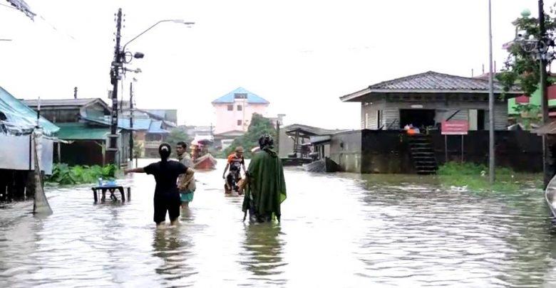 อาสาไทยยืนยัน Thai Reference จนท 3ฝ่าย เตรียมอพยพชาวบ้านหลังน้ำในแม่น้ำโก ลก เอ่อท่วม 6 ชุมชน
